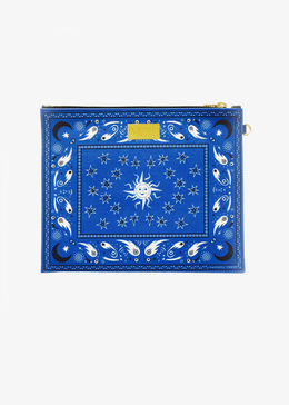 Cosmic Bandana Clutch in Blue