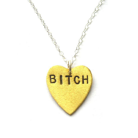Bitch Heart Pendant
