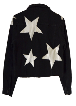 Cosmos Black Denim Jacket View 2