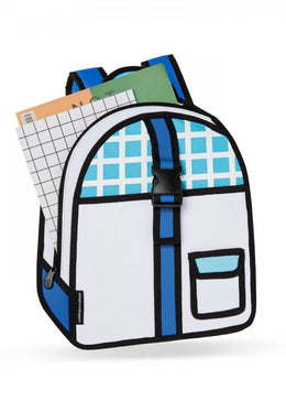 Blue Checked Backpack View 2