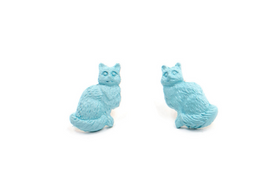 Blue Sorbet Summer Kitty Studs