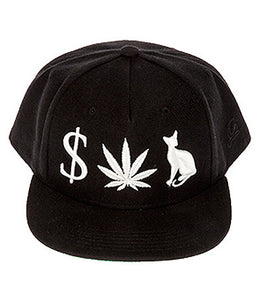 Money Weed P**** Cat Snapback