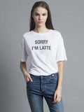 Sorry I'm Latte Oversized Tee