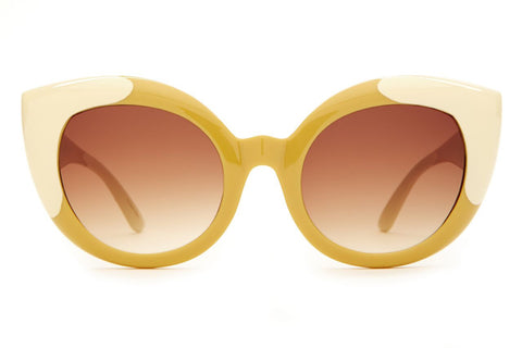 The Diamond Brunch Sunglasses in Caramel