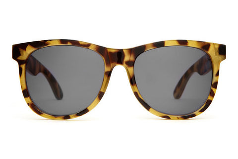 The Nudie Mag Sunglasses in Gloss Jungle Tortoise w/Grey Lenses