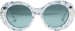 Dakota Sunglasses in White Marble