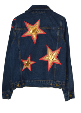 Starry Evening Denim Jacket View 2