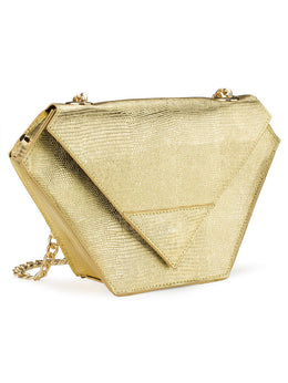 Diamond Bag in Metallic Gold