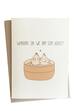 Dim Sum Lights Card