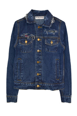 Heart Eyes Denim Jacket View 2