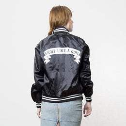 Fight Like A Girl Baseball Bomber