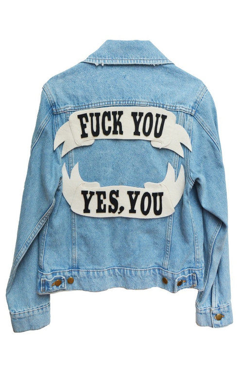 F*** You Denim Jacket