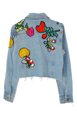 Full Bloom Denim Jacket View 2