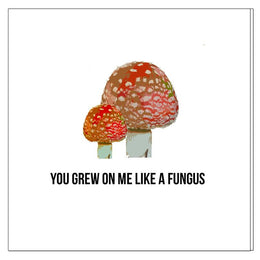 You Grew on Me Like a Fungus Love Card