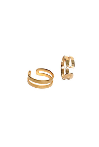 love double knuckle ring gold