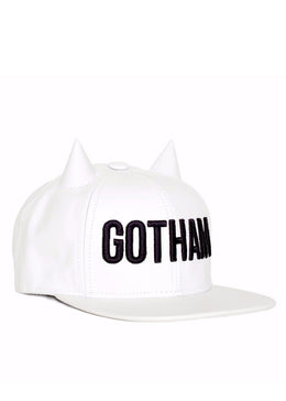 Gotham White Horned Snapback View 2