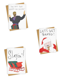 Slayin'! Baked! Giving! Greeting Card Set