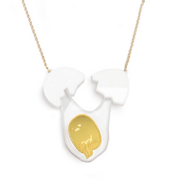 Gudetama Cracked Shell Necklace