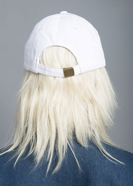 Fight Like A Girl White Baseball Cap View 2