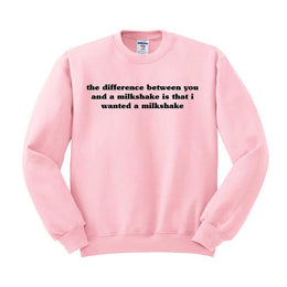 I Wanted A Milk Shake Crewneck