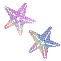 Lustful Lilac Holographic Starfish Pasties