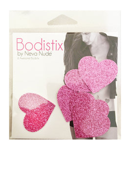 Mini Sparkle Pony Pink Glitter I Heart U BodiStix Nipple Cover 6PK View 2