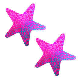 Eragon Holographic Blacklight Starfish Nipztix Pasties Nipple Covers