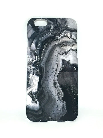 Oil Spill Phone Case in Grey
