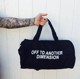 Off To Another Dimension Duffle Bag-- PREORDER View 2