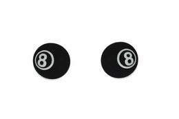 8 Ball Stud Earrings