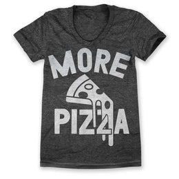 More Pizza T-Shirt - Black