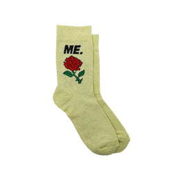 M.E. Rose Glitter Sock - Gold