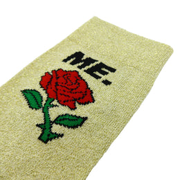 M.E. Rose Glitter Sock - Gold View 2