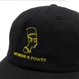 Woman is Power Hat - Black View 2