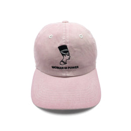 Woman is Power Hat in Blush pink