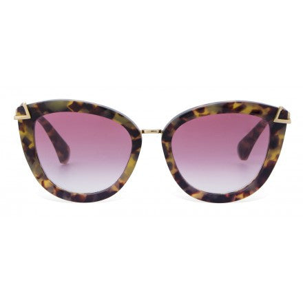Melrose Brown Tortoise Sunglasses in Rouge