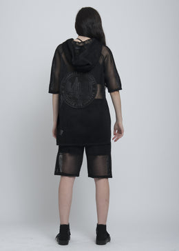 Black Mesh Poncho View 2