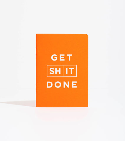 Orange Get Shit Done Notebook