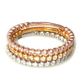Mixed Pave Ring Set