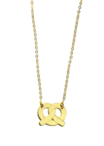 Gold Pretzel Necklace