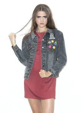 Not Your Babe Denim Jacket View 2