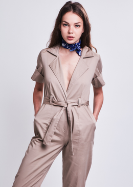 St. Ives Jumpsuit in Beige