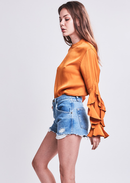 Clovelly Blouse in Mustard **Pre-Order, Ships 6/1** View 2