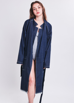 Denim Robe Coat