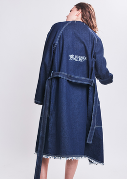 Denim Robe Coat View 2