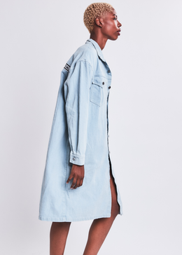Denim Long Line Jacket View 2