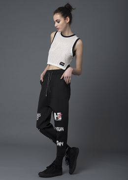 Black Neoprene Pants View 2