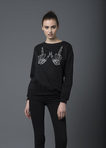 Skeleton Hands Sweater