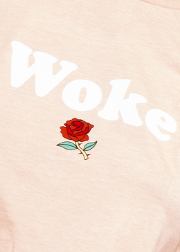 Woke Tee in Peach Sherbert View 2