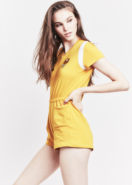 Carmen Romper in Mustard View 2